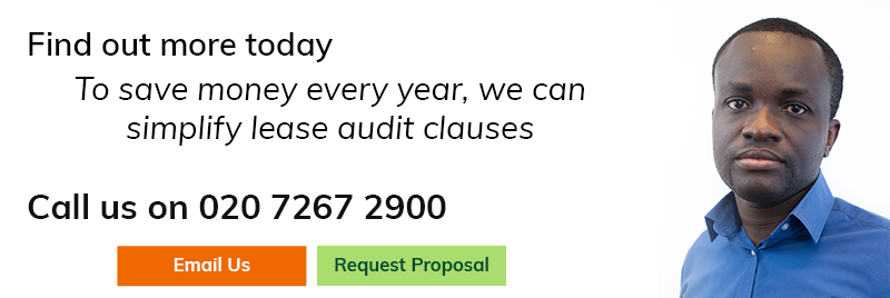 To save money every year, we can simplify lease audit clauses